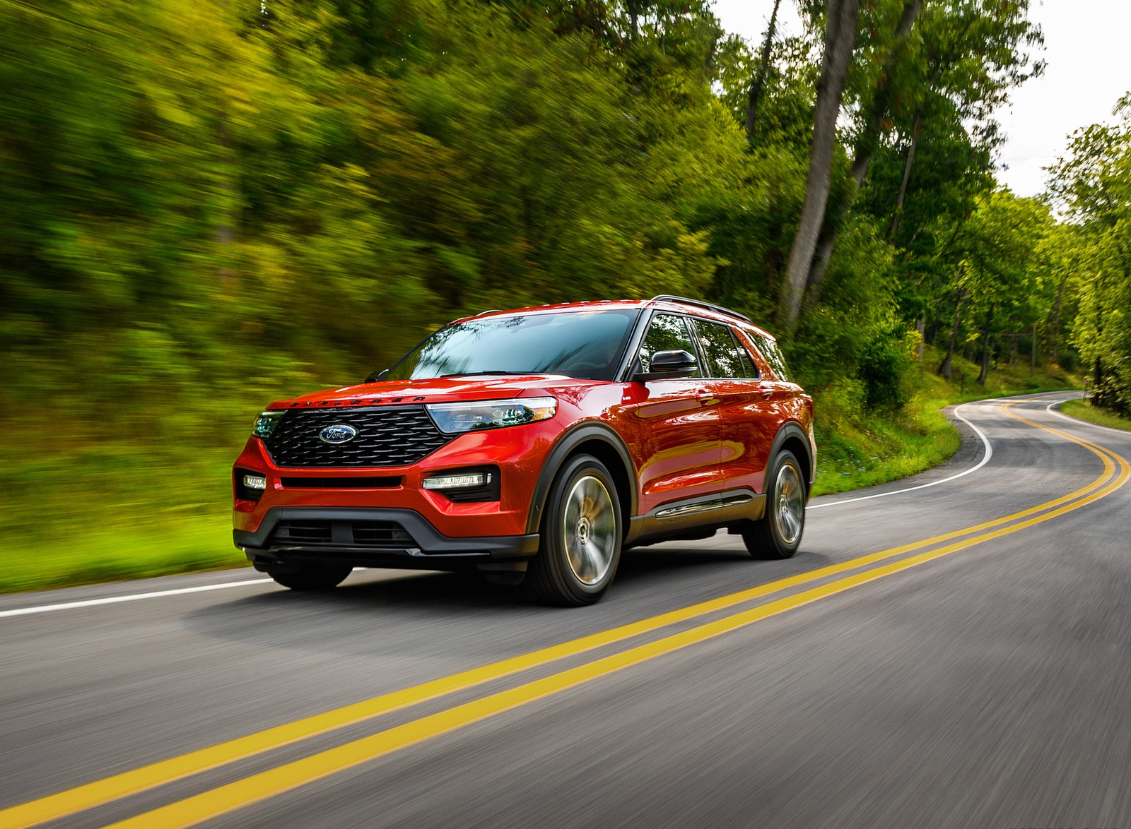 2022 Ford Explorer ST-Line Front Three-Quarter Wallpapers (5)