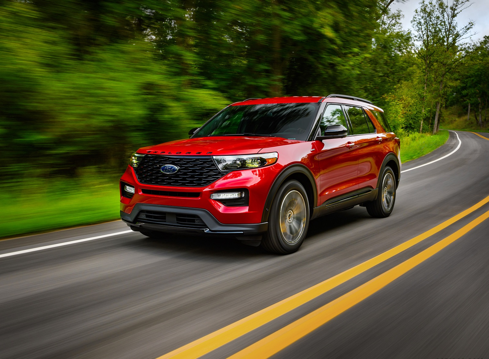 2022 Ford Explorer ST-Line Front Three-Quarter Wallpapers (4)