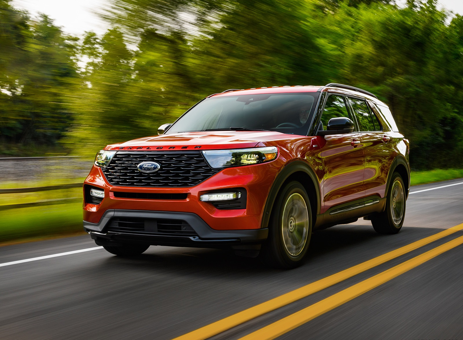 2022 Ford Explorer ST-Line Front Three-Quarter Wallpapers (1)