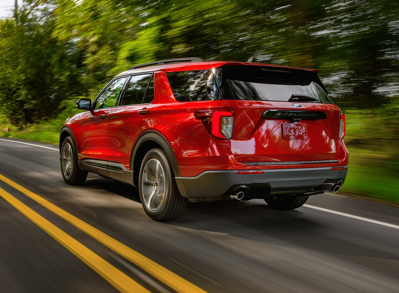 2022 Ford Explorer ST-Line Rear Three-Quarter Wallpapers (3)
