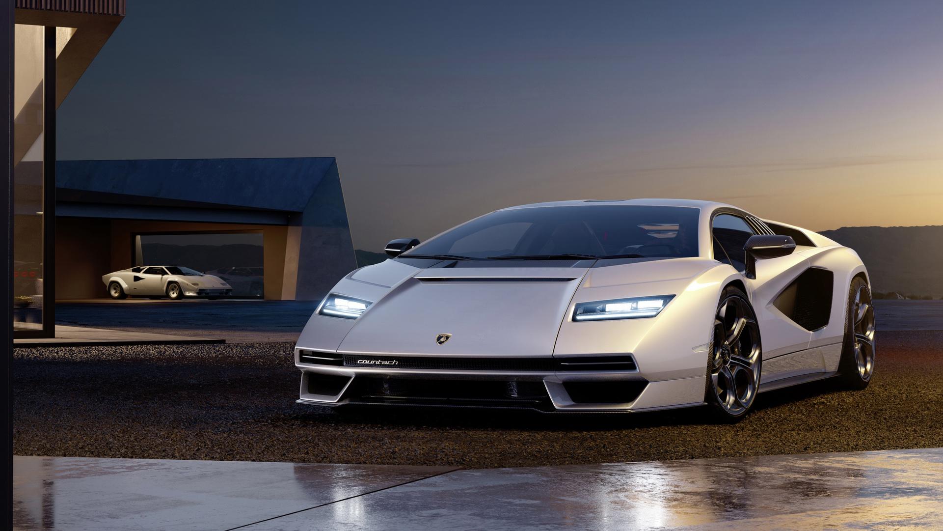 2022 Lamborghini Countach LPI 800-4 Front Wallpapers (1)