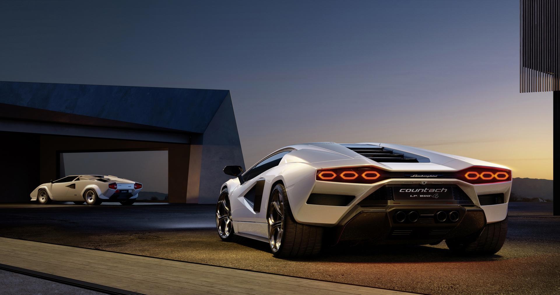 2022 Lamborghini Countach LPI 800-4 Rear Three-Quarter Wallpapers (3)