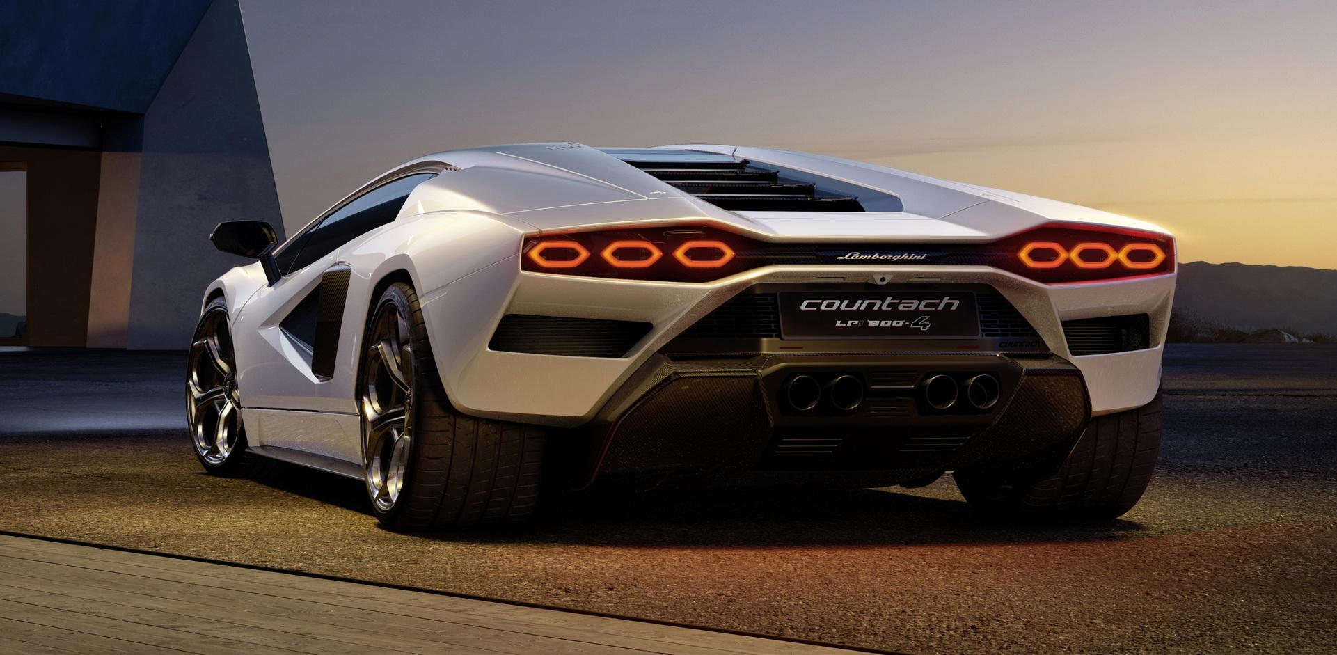 2022 Lamborghini Countach LPI 800-4 Rear Wallpapers (5)