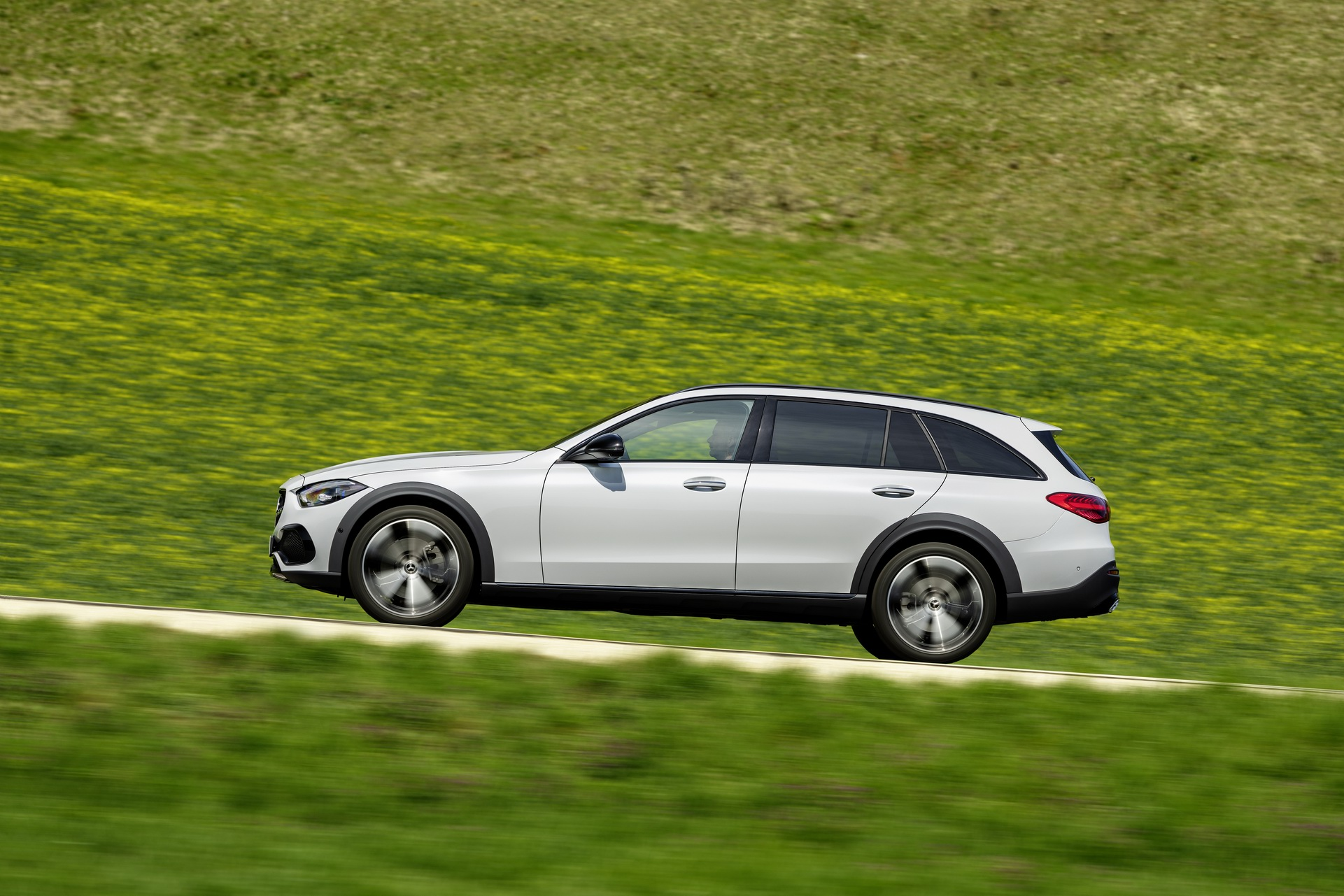 2022 Mercedes-Benz C-Class All-Terrain (Color: Opalite White Bright) Side Wallpapers (5)