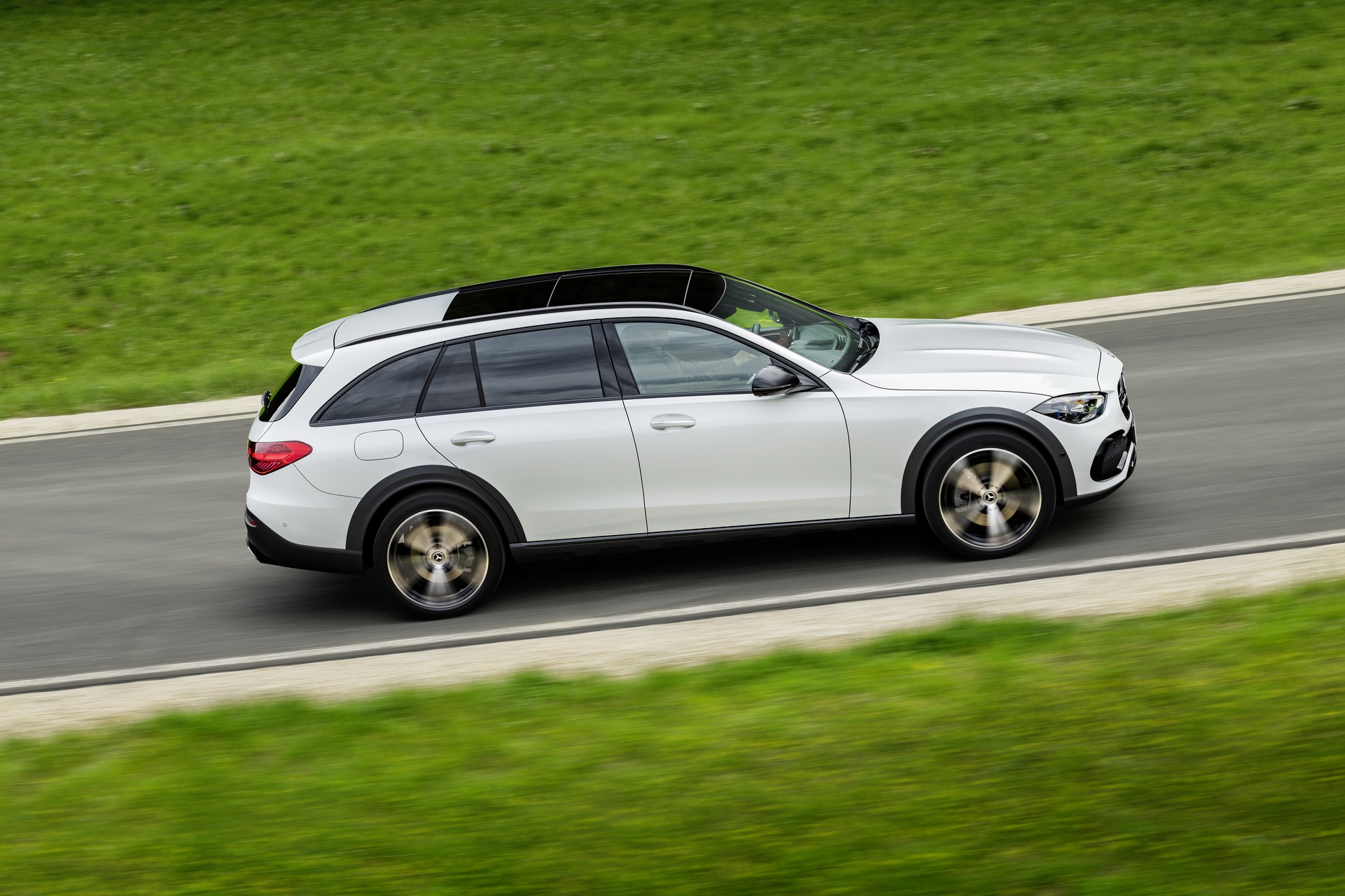 2022 Mercedes-Benz C-Class All-Terrain (Color: Opalite White Bright) Side Wallpapers (6)