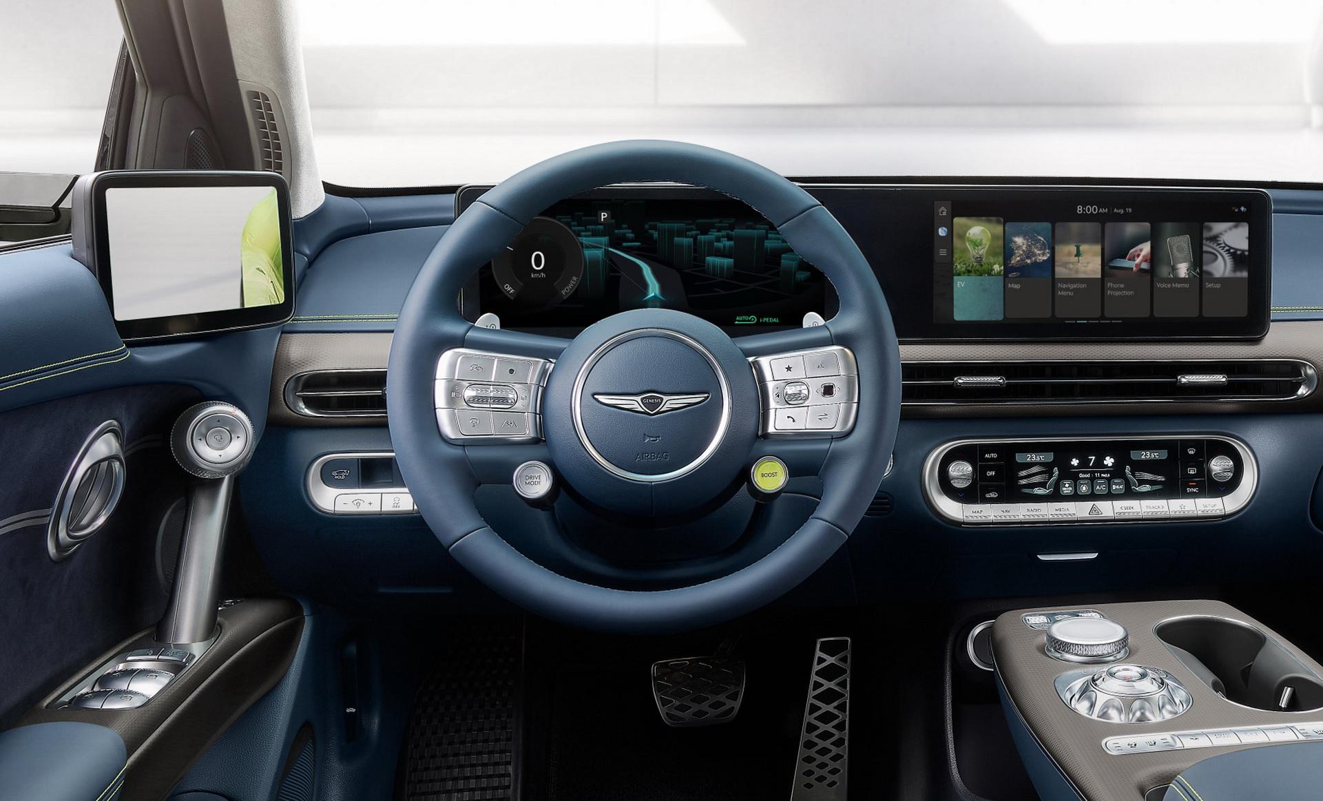 2023 Genesis GV60 Interior Steering Wheel Wallpapers (7)