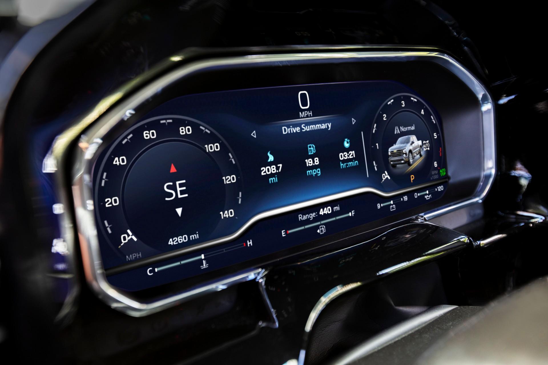 2022 Chevrolet Silverado LT Digital Instrument Cluster Wallpapers (5)