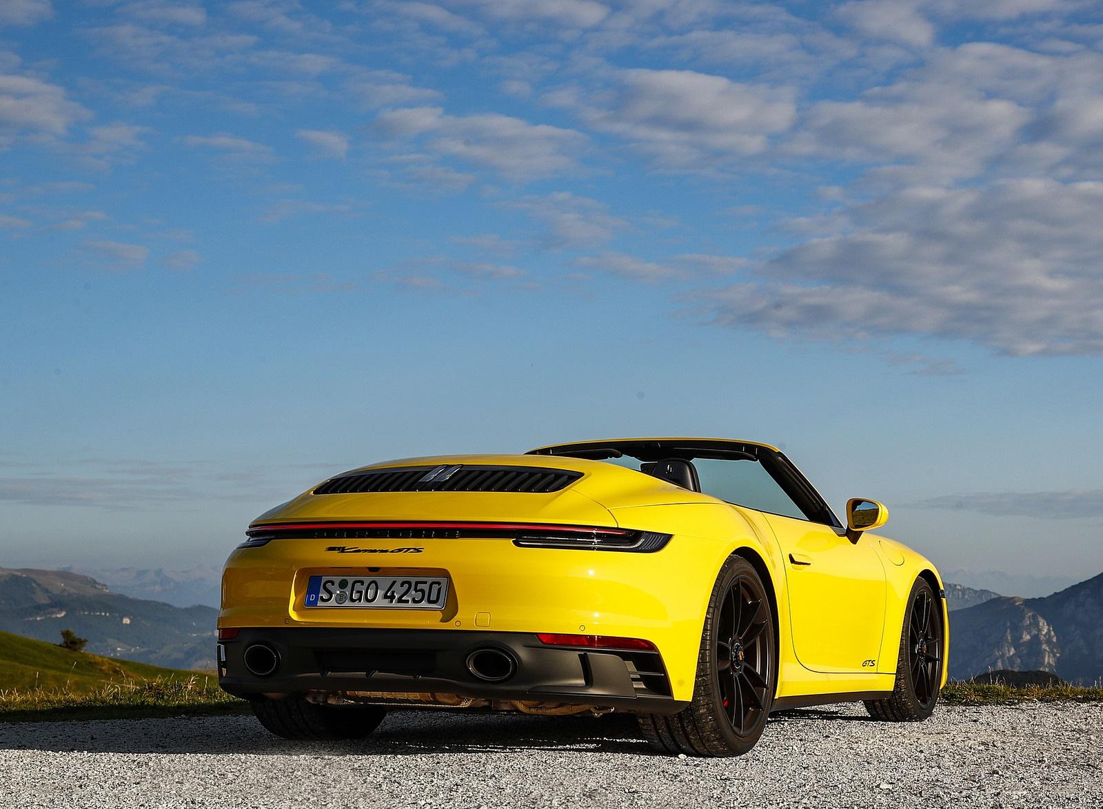 2022 Porsche 911 Carrera GTS Cabriolet (Color: Racing Yellow) Rear Wallpapers (10)